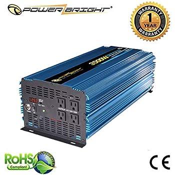 amazon com ufire 3000w power inverter, dc 12v to 110v ac carpower bright pw3500 12 power inverter 3500 watt 12 volt dc to 110 volt ac