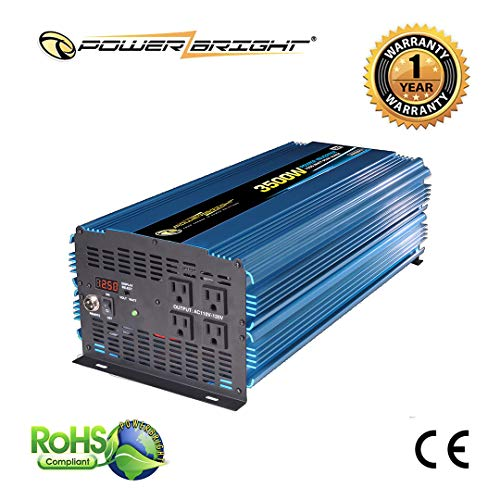 12 Power Inverter 3500 Watt 12 Volt DC to 110 Volt AC ()