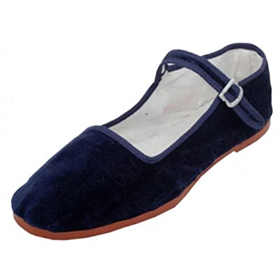 Shoes8teen Shoes 18 Womens Cotton China Doll Mary Jane Shoes Ballerina Ballet Flats Shoes | Flats