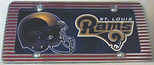 1 , Football Sign of the, SAINT LOUIS RAMS , Metal Sign, in a Metal Red Chrome Billet Border,10A2.2+17B5.4+3001+