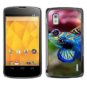YOYO Slim PC / Aluminium Case Cover Armor Shell Portection //Cool Neon Coral Fish //LG Google Nexus 4