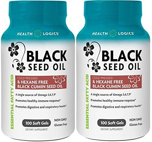 Health Logics Black Cumin Seed Oil Softgels, 100 Count (Pack of 2)