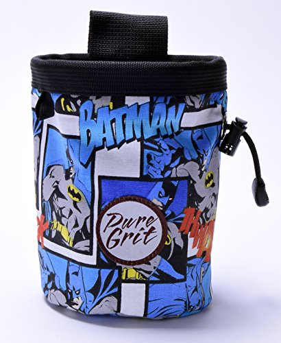 Pure Grit Batman Chalk Bag (Made in Usa) with Belt …