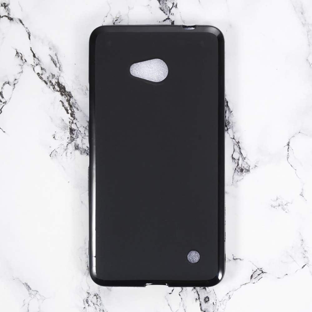 Microsoft Lumia 640 LTE Case, Scratch Resistant Soft TPU Back Cover Shockproof Silicone Gel Rubber Bumper Anti-Fingerprints Full-Body Protective Case Cover for Microsoft Lumia 640 LTE (Black)