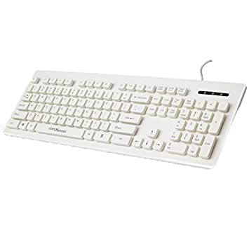 Vaevancom Teclado Ultrafino con Cable De Consola De La Oficina De Juegos Silencioso Impermeable Color Inalámbrico Externo Todo USB, Blanco: Amazon.es: ...