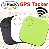Xenzy Bluetooth GPS Tracker Anti lost Locator Key Finder Pet Dog Cat Child Wallet Bag Phone GPS Tracker Mini Locator Alarm Patch Wireless Seeker Selfie Remote Shutter for Fathers Day Gift (3 pack)
