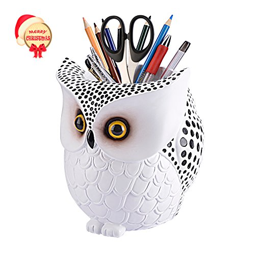 Owl Pen Holder Lyasi Pencil Container Carving Brush Pot
