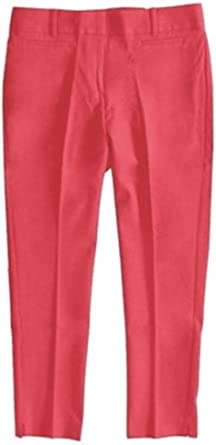 Amazon Com Ann Taylor Loft Mujer Regular Tall Colores Solidos Julie Fit Crop Pantalones 6 Sandia Pop Clothing