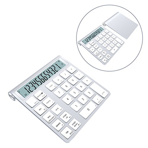 Alcey Bluetooth Wireless Smart Keypad with Calculator function Combo with Replaceable 2 AAA batteries for Apple Wireless Keyboard by Alcey