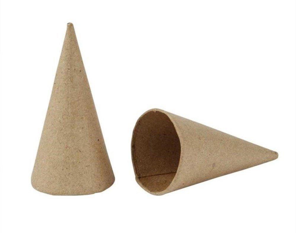 20 Paper Mache Cones to Decorate - 4cm | Papier Mache Shapes Crafty Capers