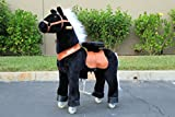 Beyond Shop Ponycycle Pony Cycle Ride On Horse for Children 4 to 9 Years Old or Up to 90 Pounds - MEDIUM SIZE PONYCYCLE (Color ALL BLACK)
