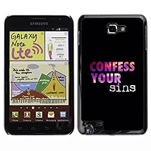 YOYO Slim PC / Aluminium Case Cover Armor Shell Portection //CONFESS YOUR SINS //Samsung Note