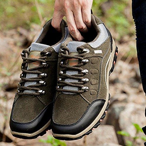 CHAUSSURES en Homme Sneaker en Kaki Chassures Kaki de Outdoor de de Tableau Noir Cuir poiture Femme Gris voir Chaussures Training Suède à Gracosy montagne Randonée pour ville Multisport Randonée UrqEwUO