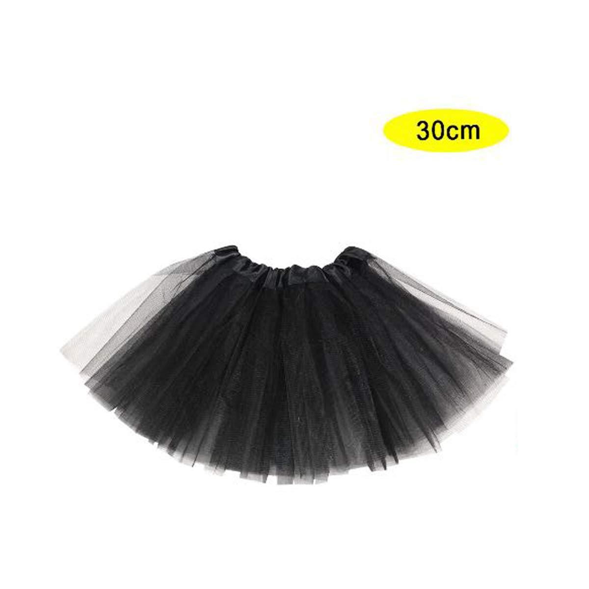 S.L Negro. Accesorio Baile Mini Falda Mujer Tama/ño 30cm Tutu Falda para Mujer y ni/ña Cisne 2013 Falda para Ballet Color Negro