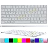 Apple Magic Keyboard Cover 2-Pack (Buy One will Free Gift 1pcs DHZ® Customized Cover) Transparent Ultra Thin Soft Silicone Skin Protective Film for Magic Keyboard MLA22B/A US Keyboard Layout Clear