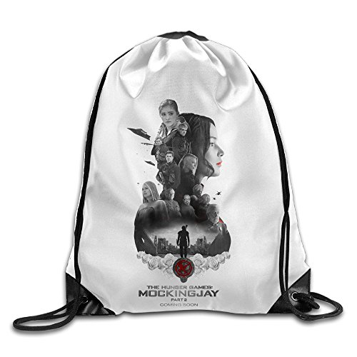 Bekey The Hunger Games Mockingjay Gym Drawstring Backpack Bags For Men & Women For Home Travel Storage Use Gym Traveling Shopping Sport Yoga Running