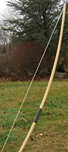 Bamboo Backed Hickory English Style Longbow, 45-50 lbs. at 28 in.