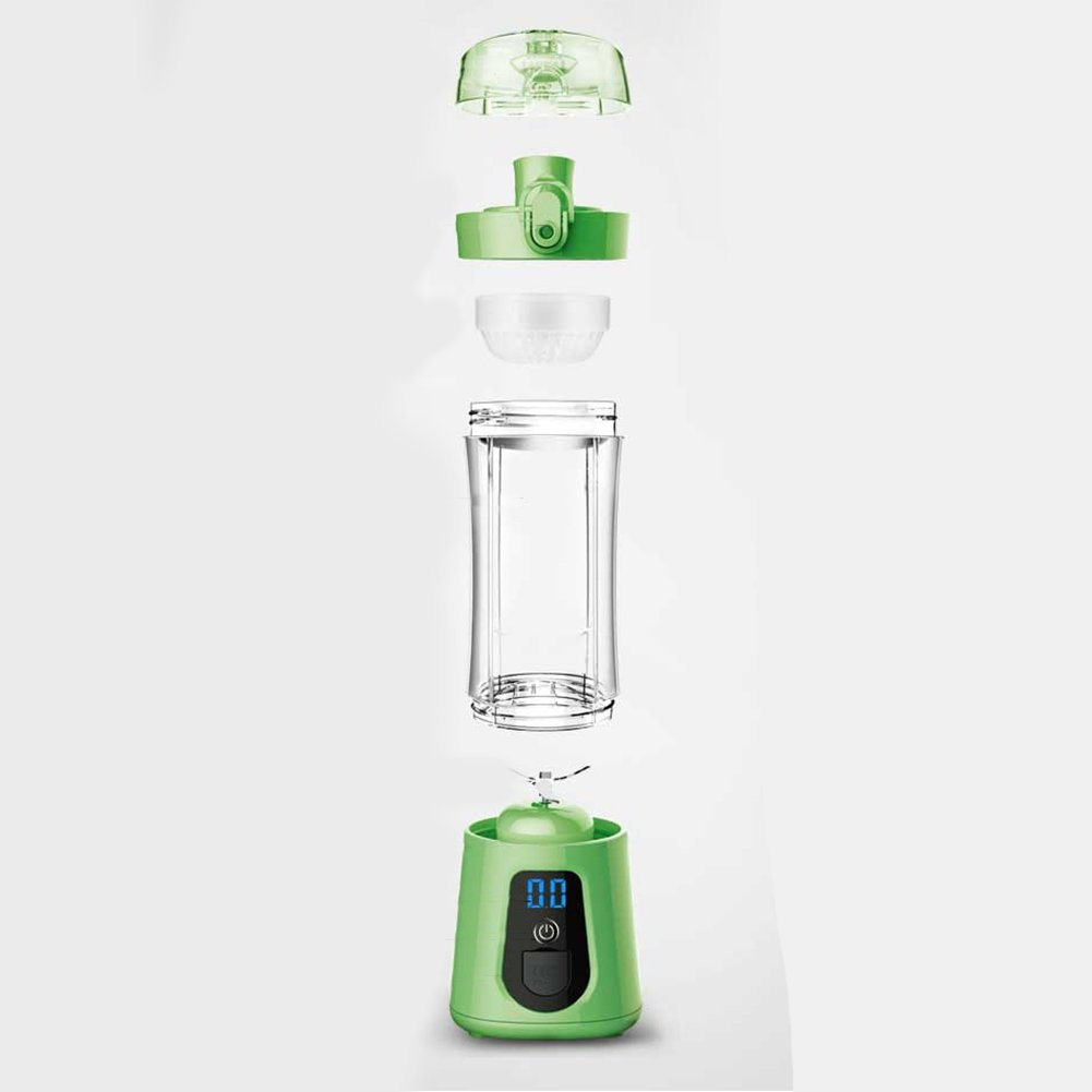 Studyset Mini Portable Electric Juice Bottle Mixer Cup with Power Bank Rechargeable USB Fruit Juicer with Travel Lid & LCD Display for Water, Protein Shakes, Smoothies Green by Studyset (Image #6)