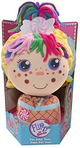 Flip Zee Girls (Zandy Candy 2-in-1 Plush Doll by Jay at Play - Perfect Soft & Squeezable Toy Instantly Switches from 12in Baby to 18in Big Girl Surprise