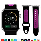 JUN-Q Apple Watch Band,Patchwork Silicone Replacement iWatch Band Wrist Strap 42mm (purple)
