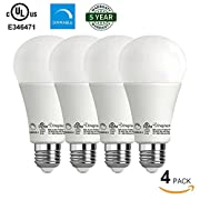 Amazon Lightning Deal 70% claimed: Enegitech 4 pack Omnidirectional A21 LED Light Bulbs Dimmable 14W (100W Equivalent) 1450LM 3000K E26 Home Commercial Lighting
