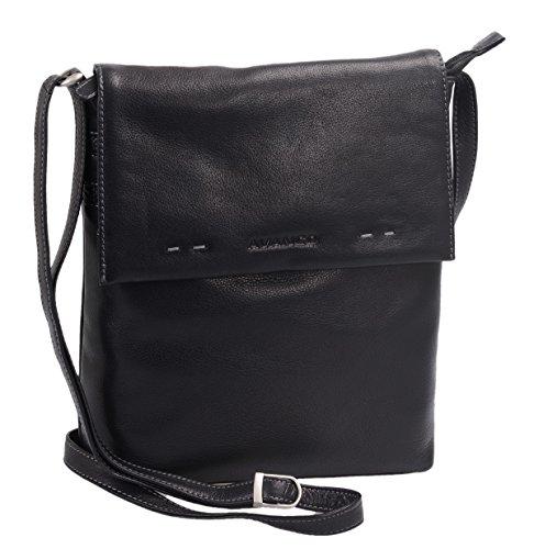 30x24x6 Louana Negro Cuero 5cm Bolso De Mujer 4XwCERSq