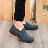 F_Gotal Mens Shoes Casual Low Shoes Business Casual Breathable Gym Shoes Soft Bottom Men's Shoes Outdoor Sport Sneakers Gray