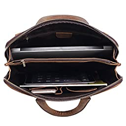 Polare Luxury Alligator Crocodile Style Cowhide Leather Slim Business Case Briefcase Handbag