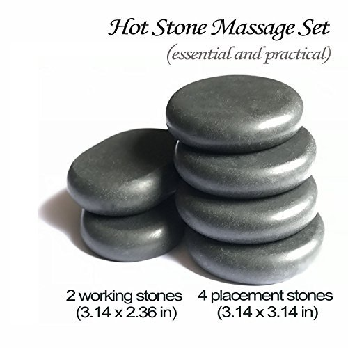 Essential Massage Stones Set for professional or home spa, relaxing, healing, pain relief  by Redsong ()