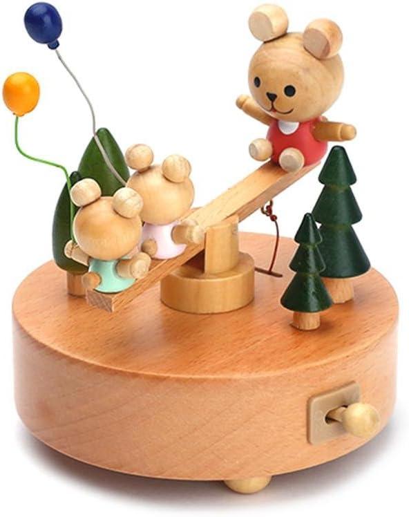 Wooden Music Box Ferris Innovative Ferris Wheel /& Birthday Cake Shaped Wooden Music Box Toy Decoration Cute Birthday Present For Kids. Liteness Wooden Music Box