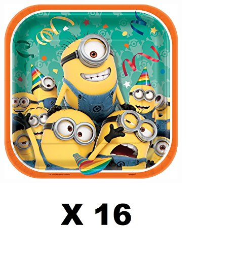 Despicable Me Minions Birthday (16ct) Party Supplies Small Dessert Cake Plates -
