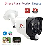 Home Security Wired Camera System Outdoor Security Camera Hybrid Wired 2.0MP 1080P AHD/TVI/CVI CCTV Camera with Pripaso Smart Alarm Camera Heat Based Motion Detect CCTV System 100ft Night Vision
