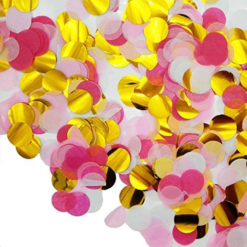 """Ldoux 6000 Pièces 1 """"Papier Confettis Rond Tissus Confettis Partie Cercle Papier Table Confettis de Table Cercle de Fête, 4 Couleurs"""