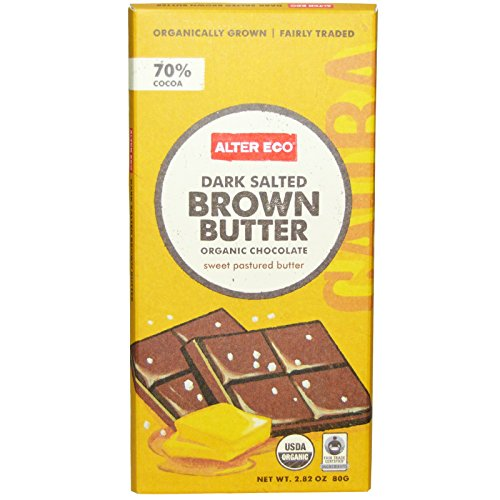 Alter Eco, Organic Chocolate, Dark Salted Brown Butter, 2.82 oz (80 g) - 2pc - Chocolate Salted Butter