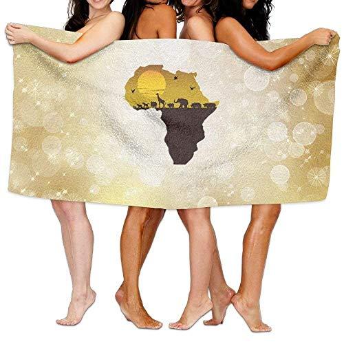 TanJieis Oversized Beach Towel, Bath Towel, Beach Towel Africa Animal and Map 31