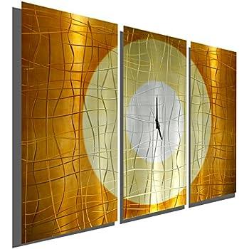 Amazon.com: Wall Clock, Functional Wall Art Hanging Clock in Copper ...