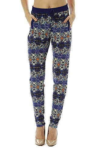 Golden Black Women's Printed Knitted Joggers Pants 121 M