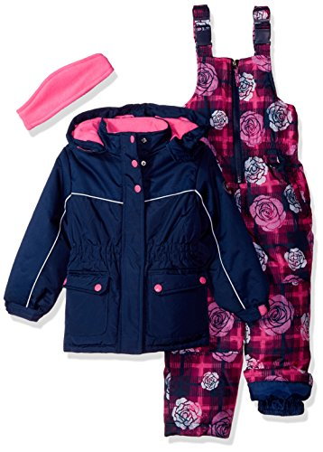 Pink Platinum Toddler Girls' Insulated Two-Piece Better Snowsuit, Navy, 4T