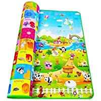 ASPERIA Double Sided Water Proof Baby Mat Carpet Baby Crawl Play Mat Kids Infant Crawling Play Mat Carpet Baby Gym Water Resistant Baby Play & Crawl Mat(Large Size - 4 Feet X 6 Feet)