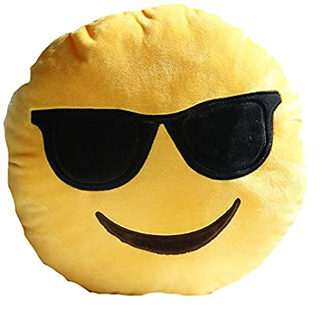 Funny Emoji Mono suave felpa almohada cojín redondo de caca ...