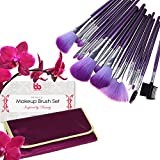Best Contouring Makeup Products Best Professional Makeup Brushes Set - 16 Pc Purple Cosmetic Foundation Make up Kit - Beauty Blending for Powder & Cream - Bronzer Concealer Contour Brush - Beauty Bon