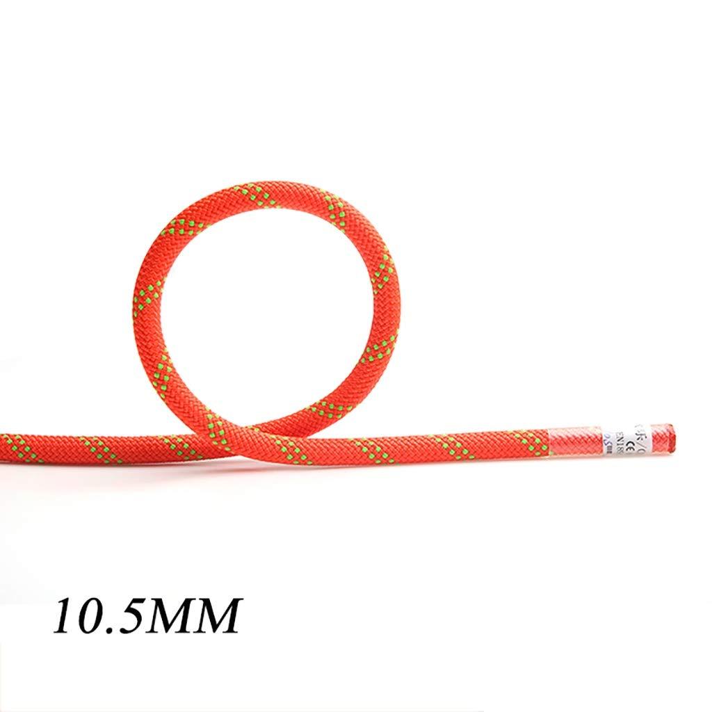 10.5mm YAXIAO Le Travail aérien de Corde s'élevant de Corde Portent la Corde Corde Statique s'élevant en Plein air diamètre de délivrance 10.5mm   11mm Corde d'escalade (Couleur   10.5MM, Taille   20M) 70M