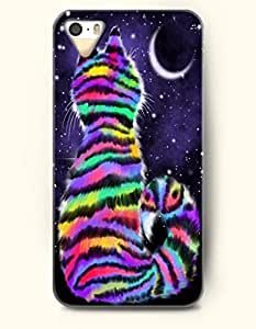iPhone 5/5S Case, SevenArc Phone Cover Series for Apple iPhone 5 5S Case (DOESN'T FIT iPhone 5C)-- Colorful Cat Watching...