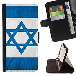- Israeli flag - - Prima caja de la PU billetera de cuero con ranuras para tarjetas, efectivo Compartimiento desmontable y correa para la mu?eca FOR Samsung Galaxy Note 4 SM-N910 N910 IV King case