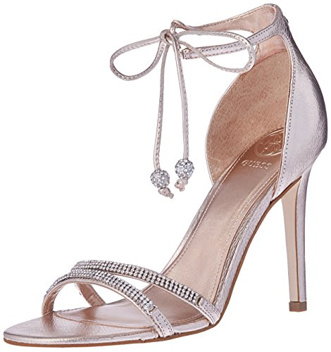Guess Women's Peri Heeled Sandal - Peach - 9.5 Medium US