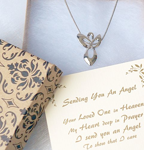 Send You An Angel Necklace Memorial Gift to Send for Sympathy to a Funeral Grieving Loss Of A Loved One by Dulaya Memories (Image #1)