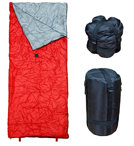 40 Sleeping Bag (Lightweight Bordeaux Sleeping Bag by RevalCamp. Indoor & Outdoor use. Great for Kids, Teens & Adults. Ultra light and compact bags are perfect for hiking, backpacking, camping & travel.)