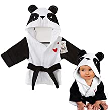 Baby Bathrobe Hooded Pajamas 3D Cartoon Animal Towel For Toddler Boys Girls Sleepwear Vine panda