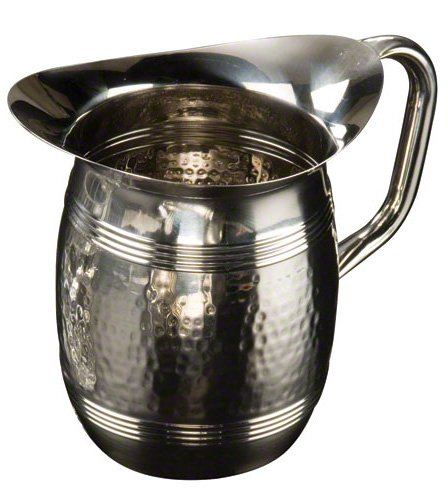 American Metalcraft (HMWP97) 100 oz Stainless Steel Hammered Water Pitchers  Water -