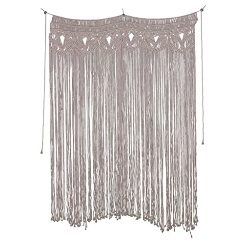 Handmade Cotton Wall Hanging Curtains Macrame Tapestry Art Door Room Divide for Wedding Living Room Regard